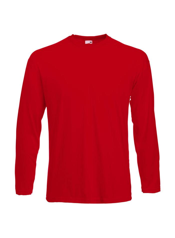 Tričko s dlouhým rukávem - Červená XL