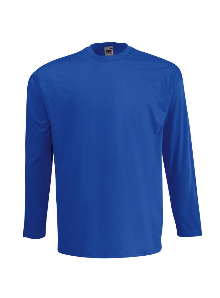 Tričko s dlouhým rukávem - Královská modrá S