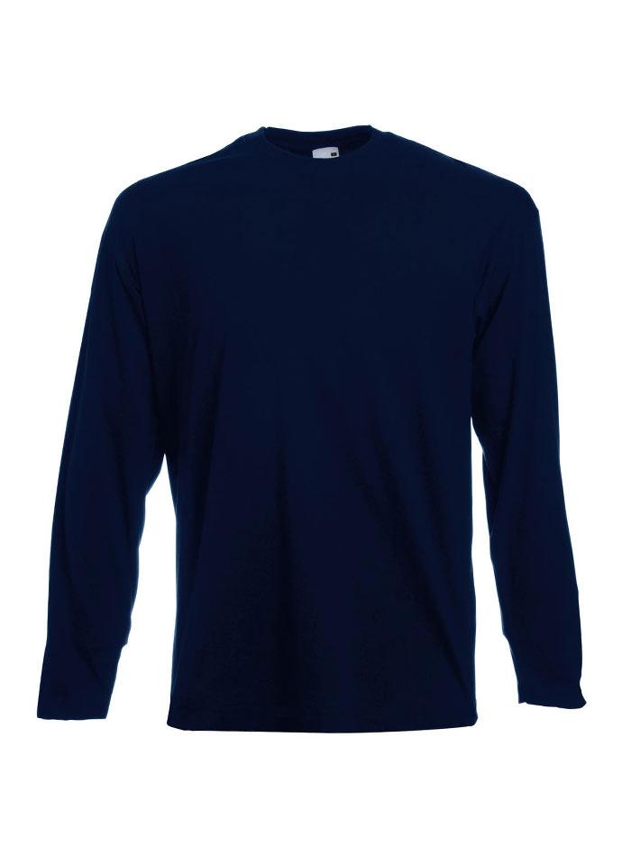 Tričko s dlouhým rukávem - Temně modrá XL