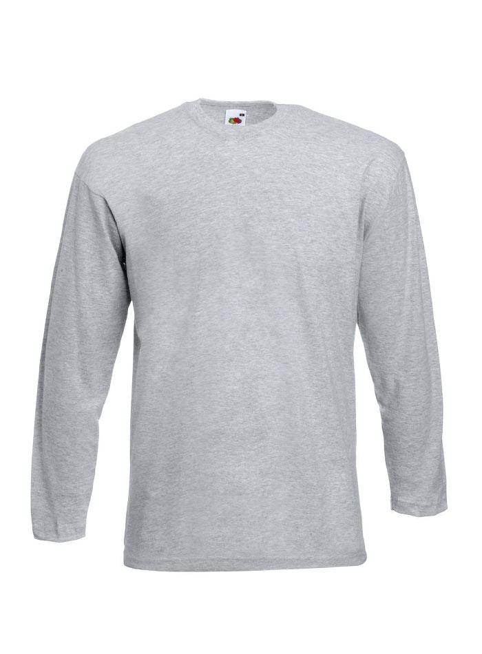 Tričko s dlouhým rukávem - šedý melír L