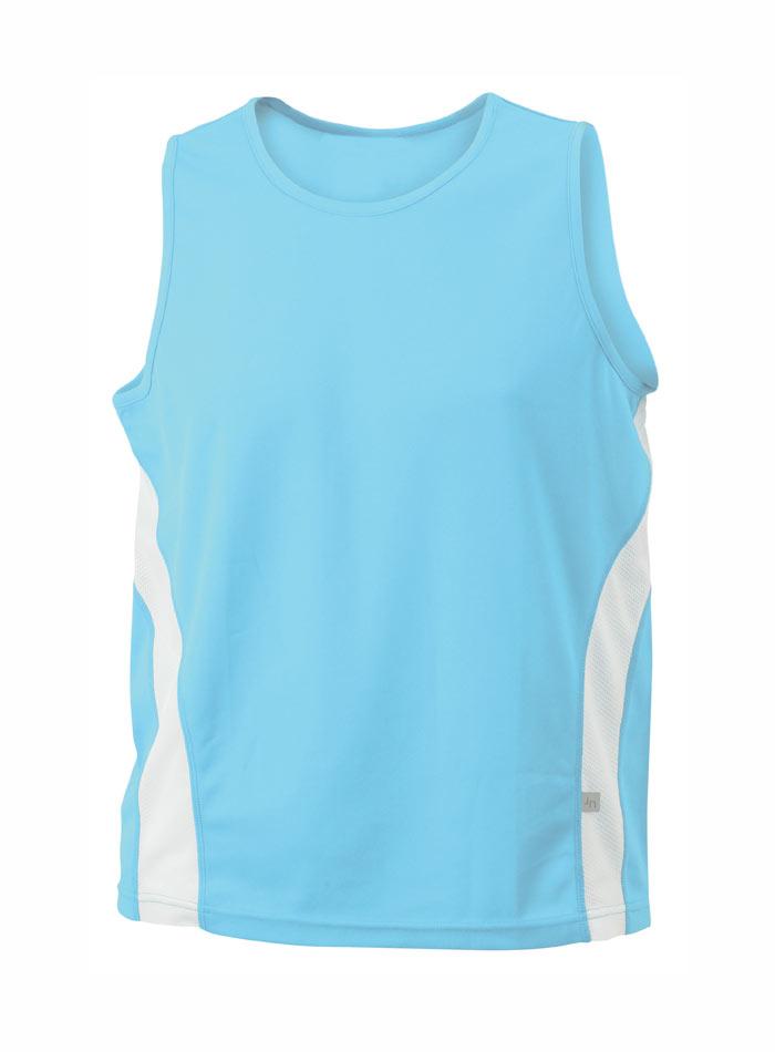 Sportovní tílko - Modrá s bílou S