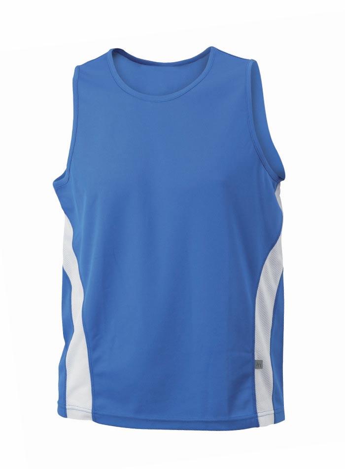 Sportovní tílko - Modrá/Bílá XL