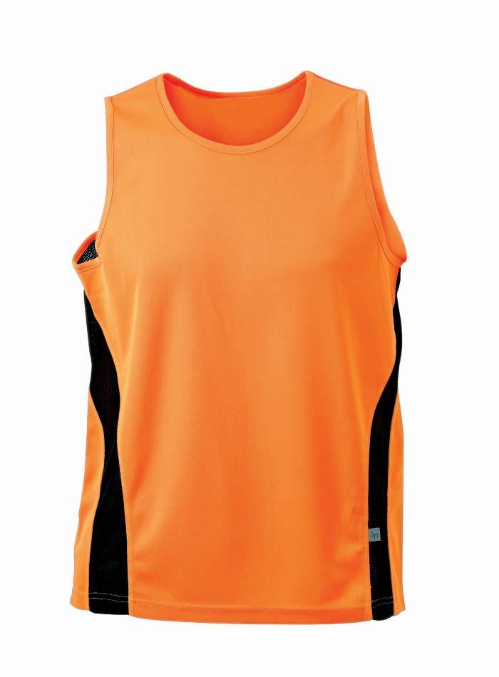 Sportovní tílko - Oranžová a černá 3XL