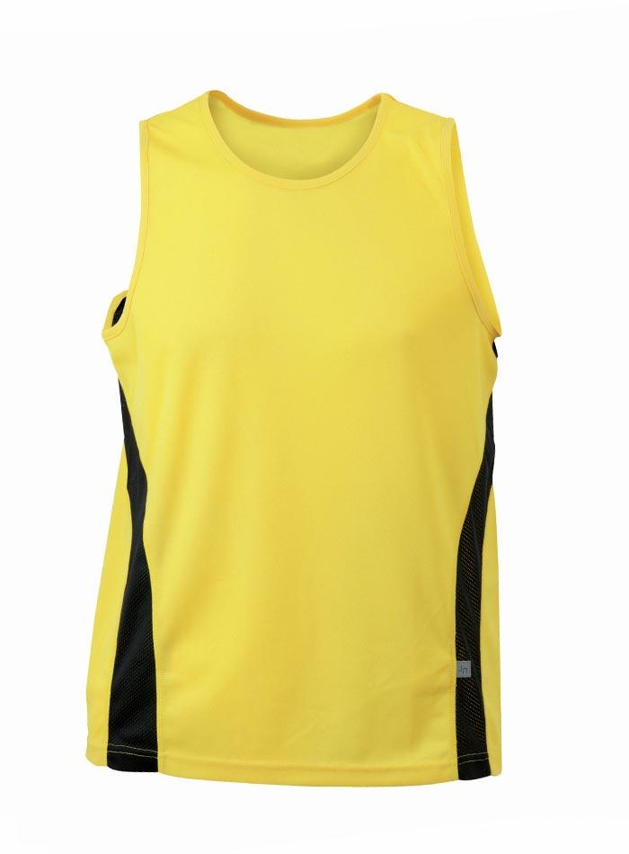 Sportovní tílko - Žlutá s černou XXL