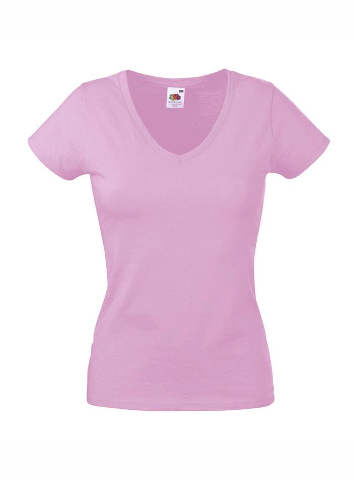 Tričko Lady-Fit - Světle růžová XS