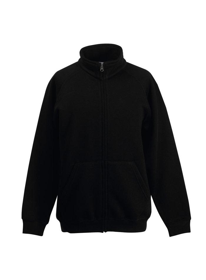 Mikina na zip bez kapuce - černá 116 (5-6)