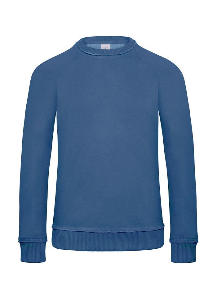 Mikina bez kapuce s prošíváním u krku - Tmavě modrá L