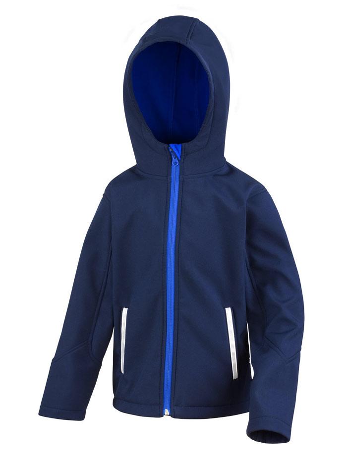 Softshell bunda s kapucí - Námořní modrá 3-4