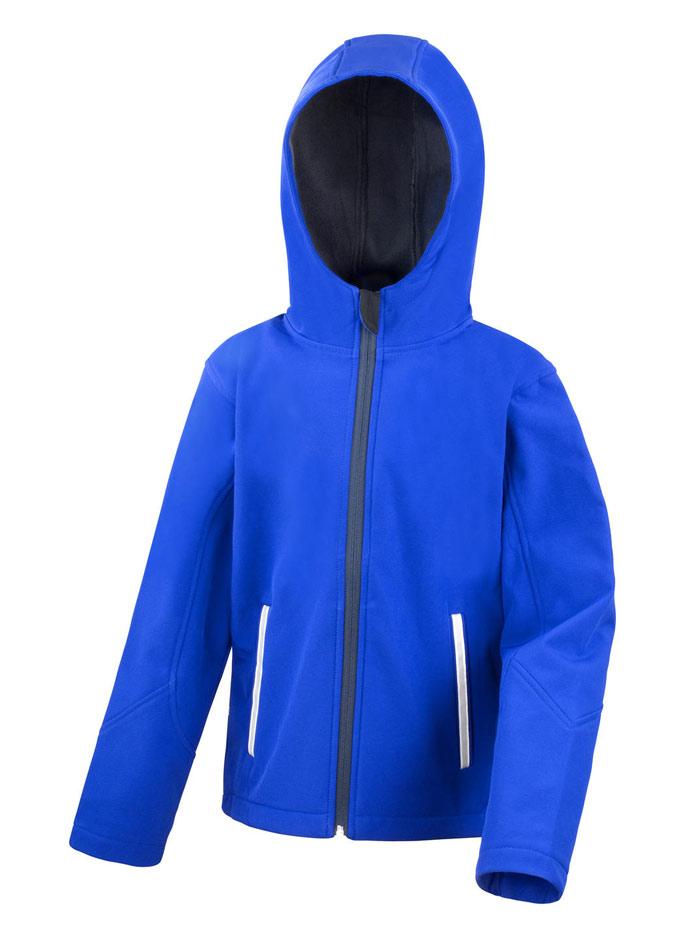 Softshell bunda s kapucí - Královská modrá 3-4