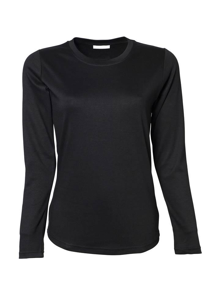 Silné bavlněné tričko Tee Jays Interlock - černá S