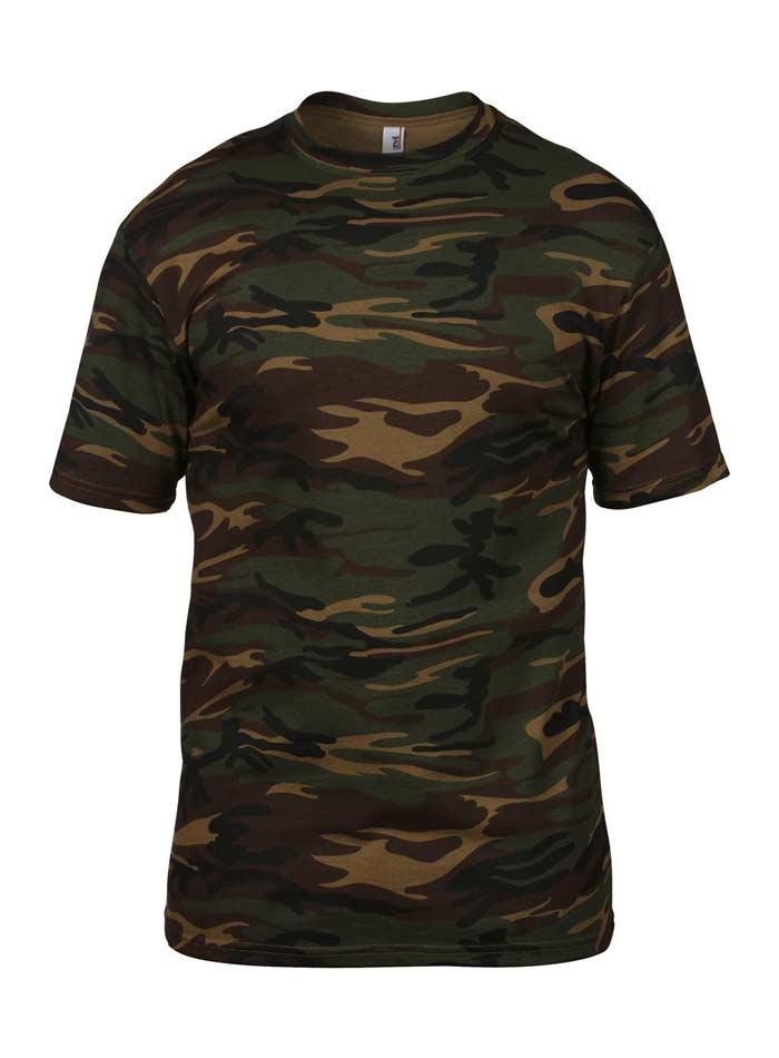Tričko Camouflage - Tmavý maskáč XL