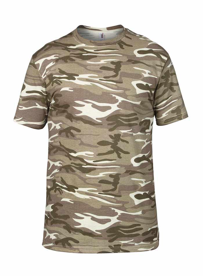 Tričko Camouflage - Světlý maskáč XL