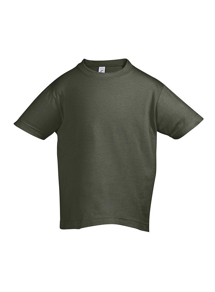 Tričko Sols Klasik - Vojenská zelená 128 (7-8)