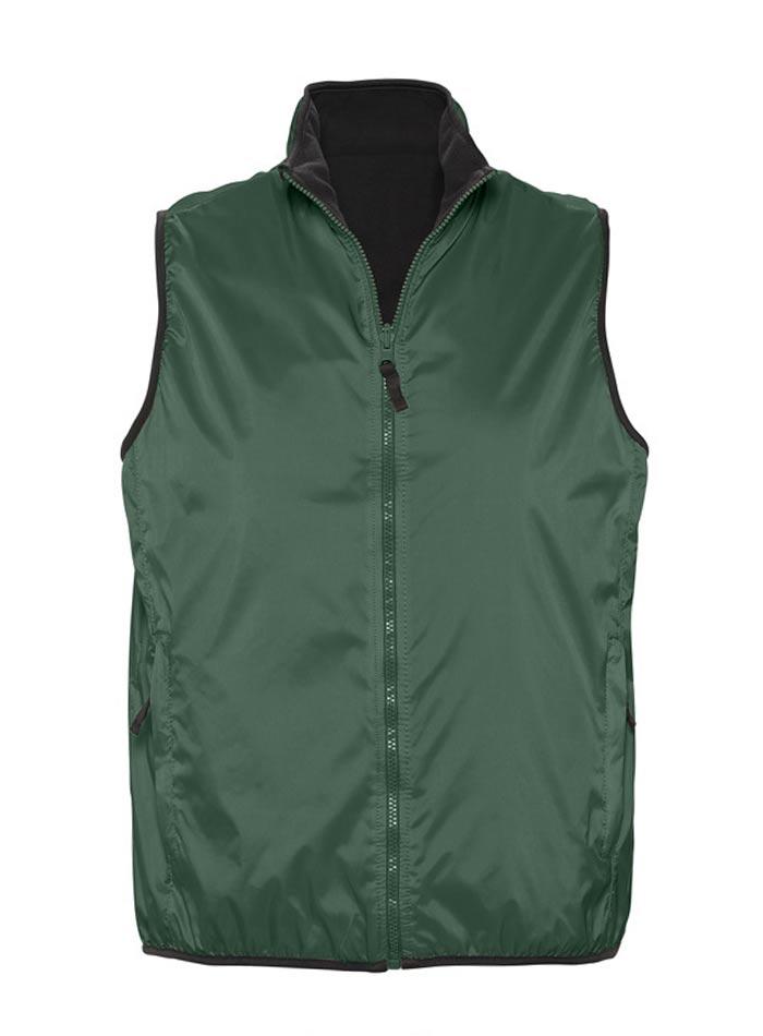 Unisex oboustranná vesta - Lesní zelená XS