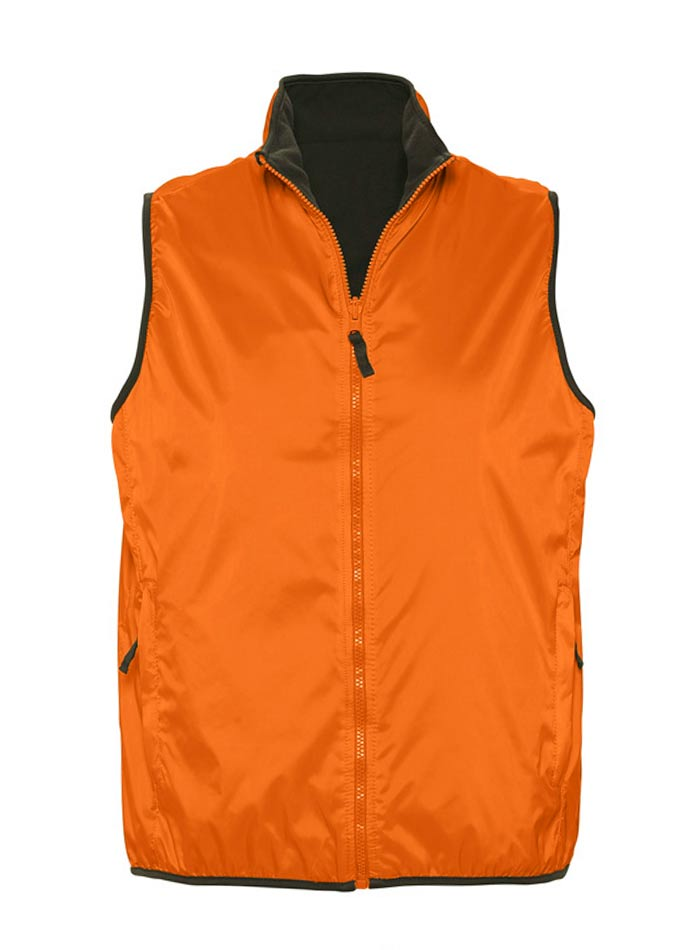 Unisex oboustranná vesta - Oranžová XS