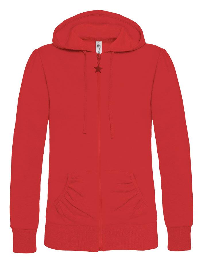 Dámská mikina na zip Wonder - Červená XS