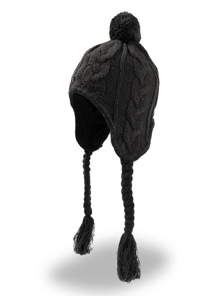 Zimní čepice Inuit - černá univerzal
