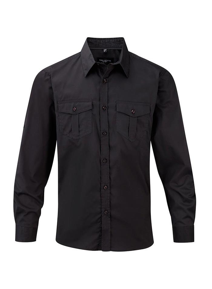 Ležérní košile - Zinkově šedá XL