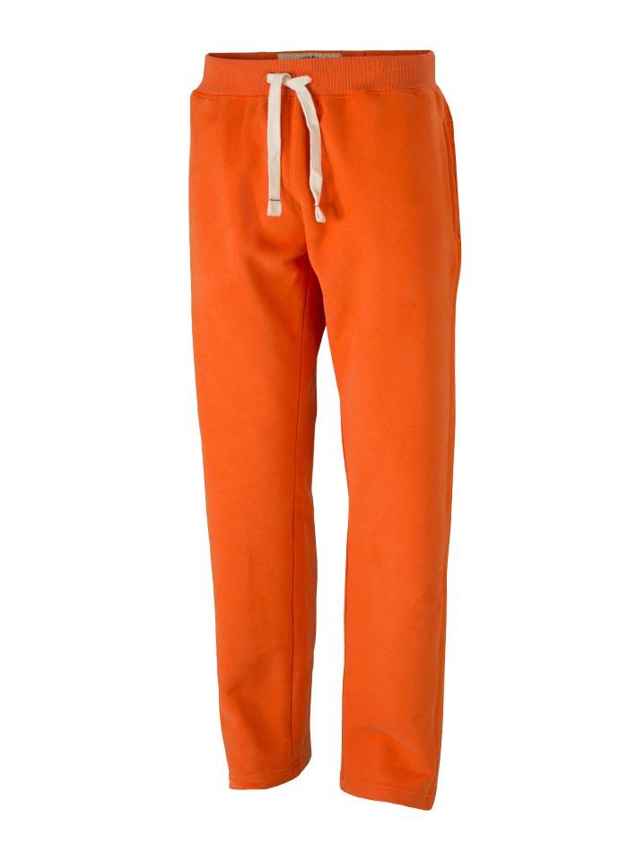 Pánské sportovní tepláky - Oranžová XL
