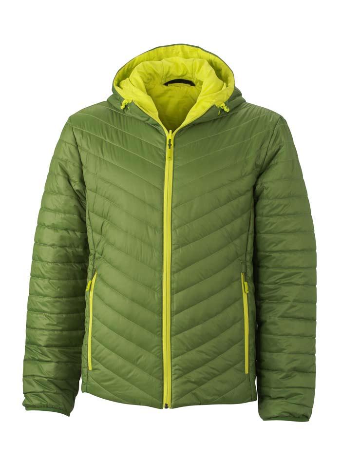 Pánská zimní bunda Reversible - Zelená a žlutá S