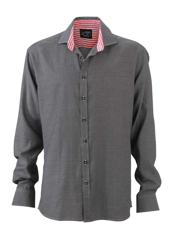 Pánská košile Pattern - Tmavě Šedá XL
