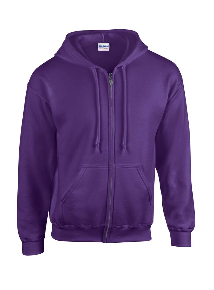 Pánská mikina na zip Gildan - fialová S
