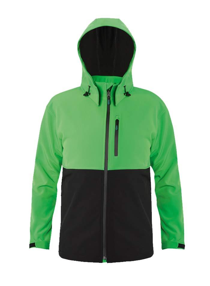 Dámská softshell bunda s kapucí - Zelená a černá S