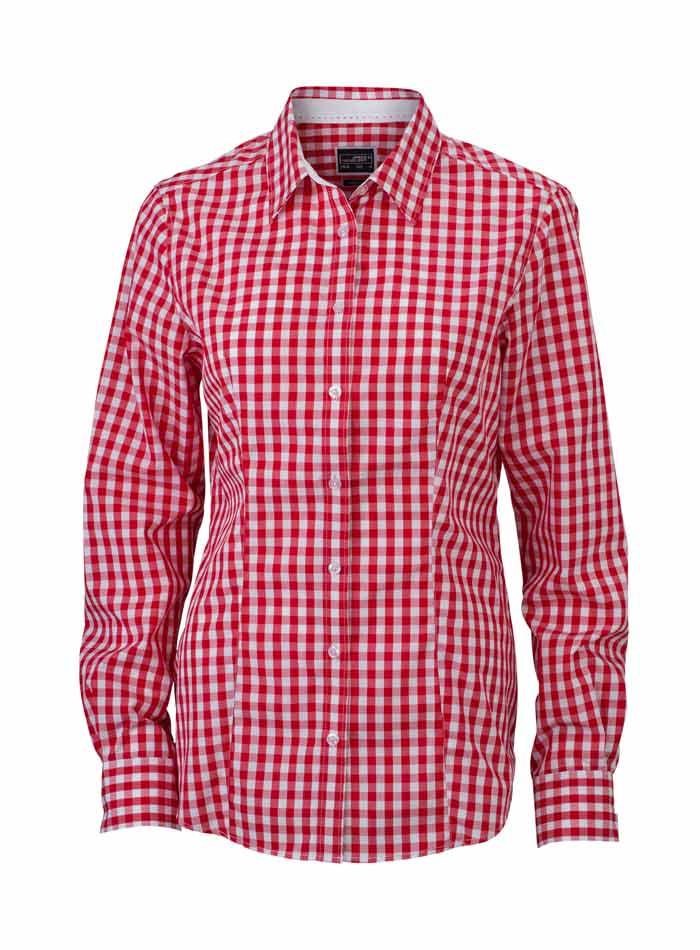 Dámská kostkovaná košile - Červená XS
