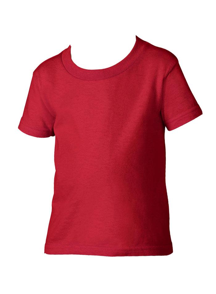 Dětské tričko Gildan - Červená 2T (92)