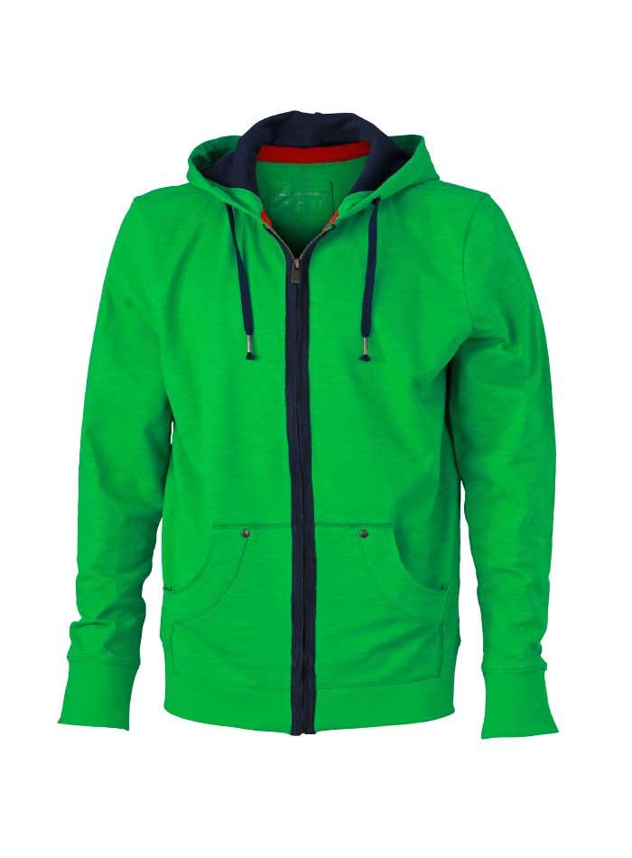 Outdoor mikina - Zelená S