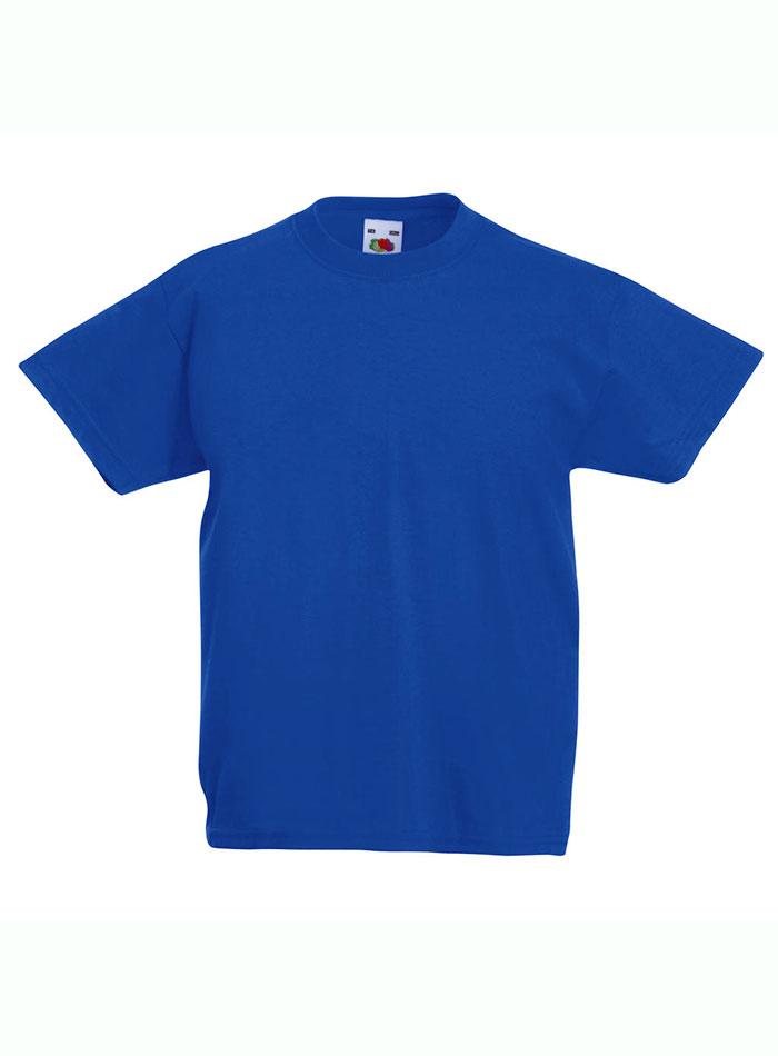 Lehké bavlněné tričko - Královská modrá 152 (12-13)