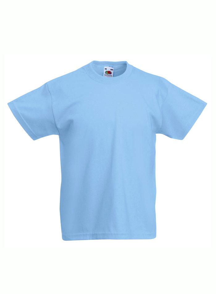 Lehké bavlněné tričko - Blankytně modrá 152 (12-13)