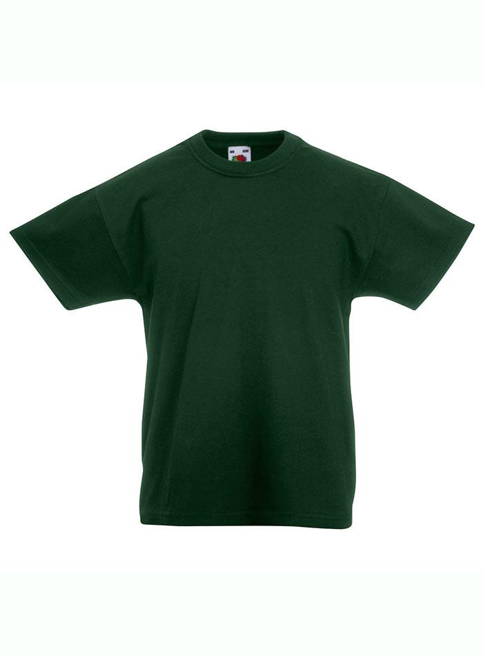 Lehké bavlněné tričko - Lahvově zelená 152 (12-13)