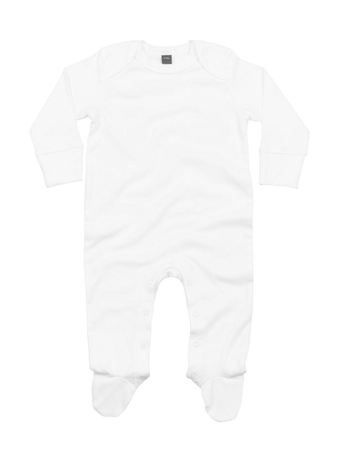 Dětský overal Organic - Bílá 0-3m