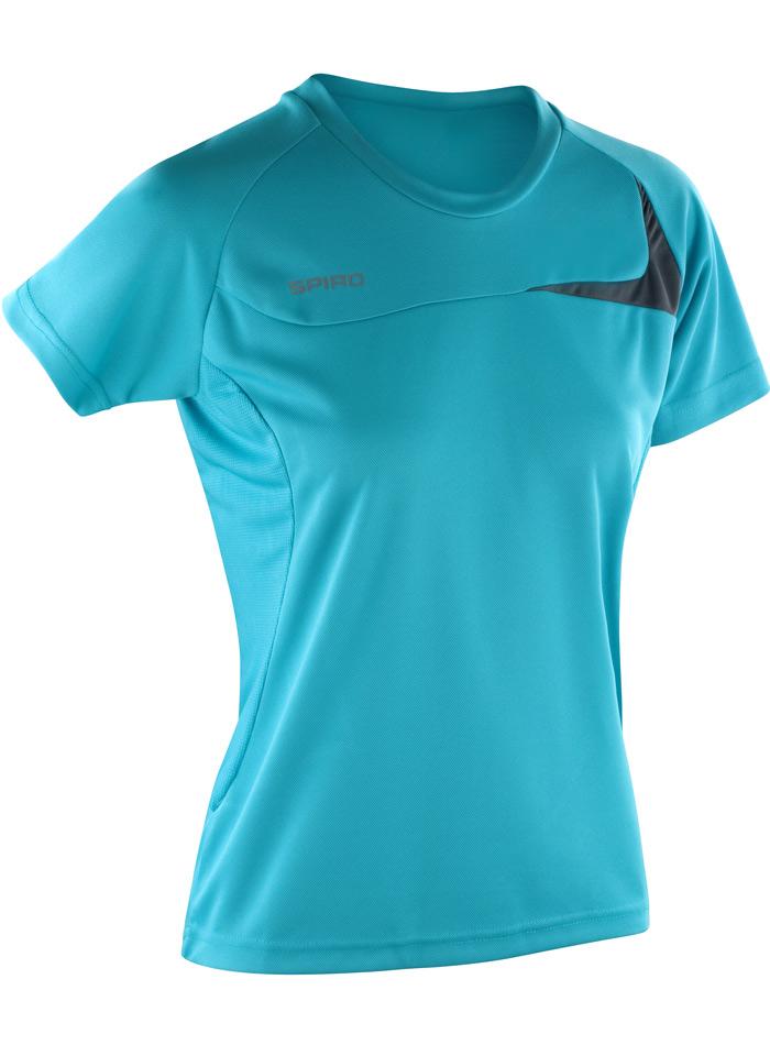 Dámské sportovní tričko Dash - Modrá a šedá L
