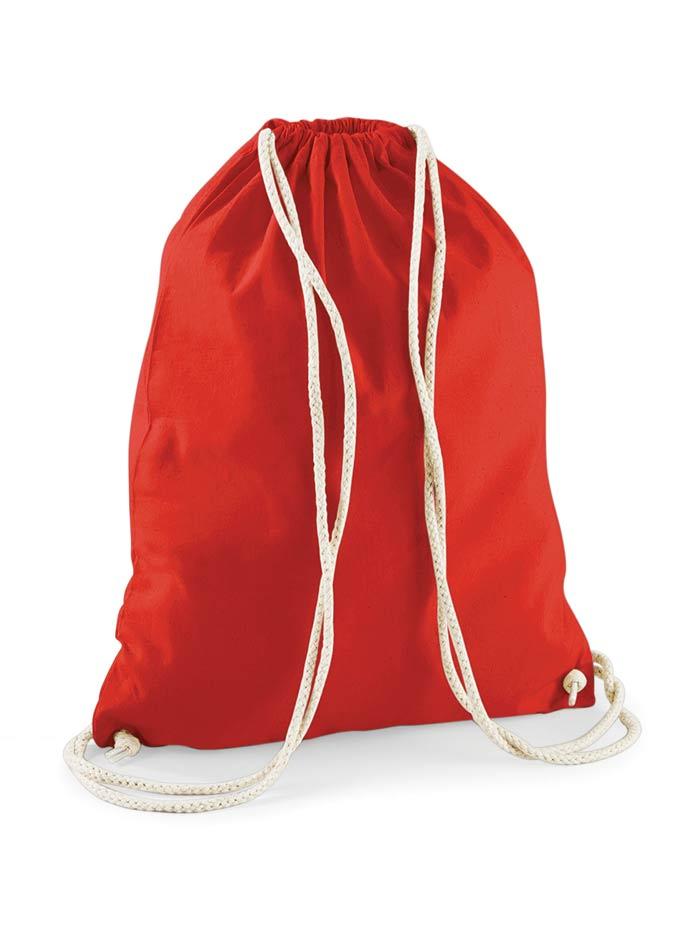 Bavlněný vak na záda - Červená univerzal