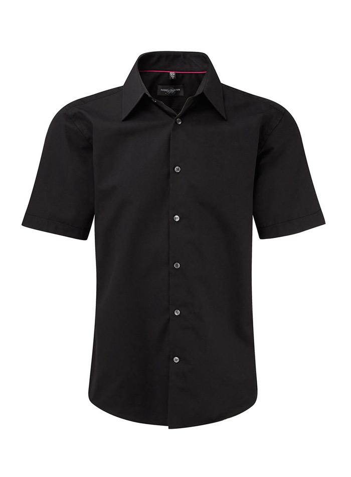 Pánská košile Tencel - černá S