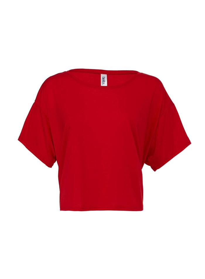Dámské tričko Boxy - Červená S