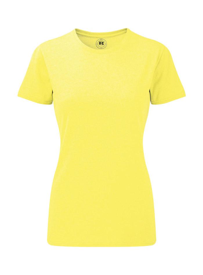 Dámské žíhané tričko - Žlutá L