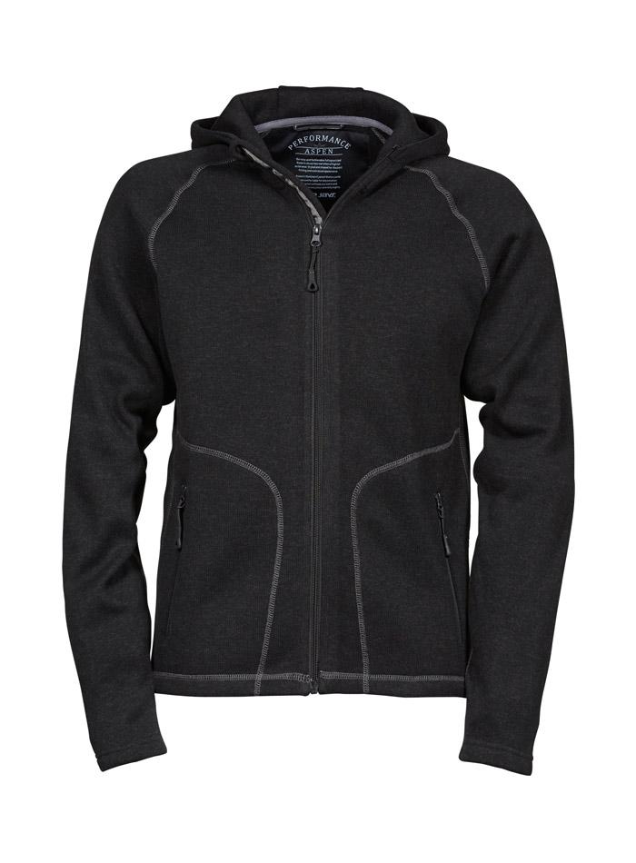Pánská fleecová mikina Aspen - Černá a šedá S
