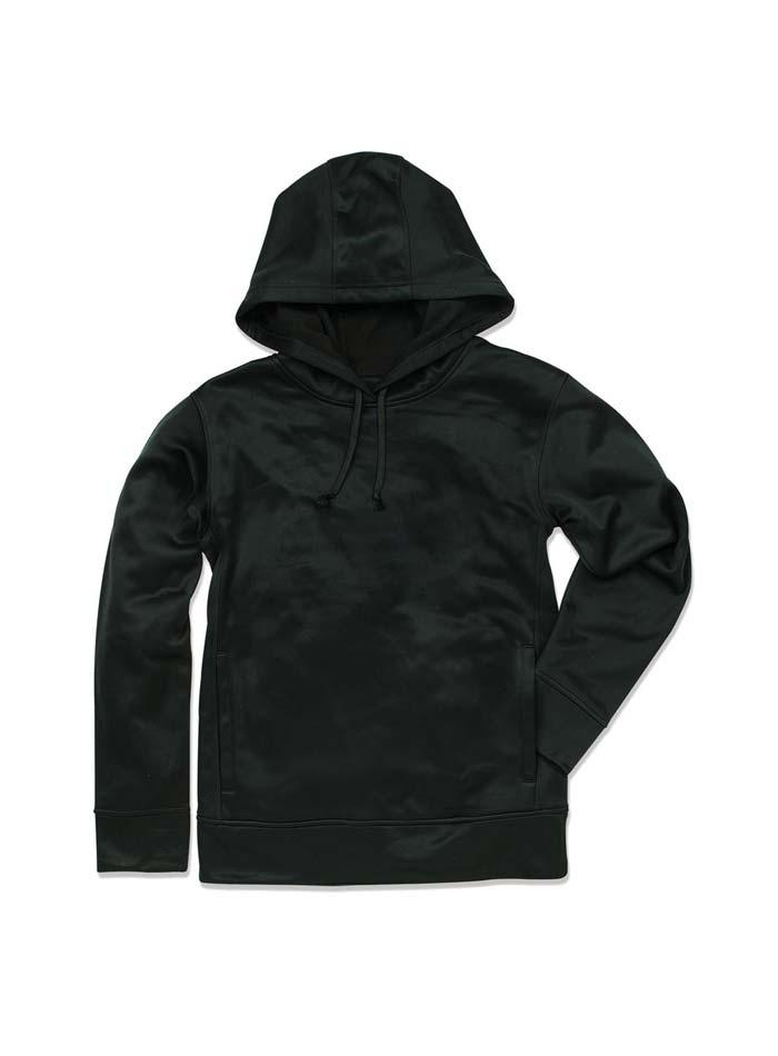 Pánská fleece mikina Bonded - černá S