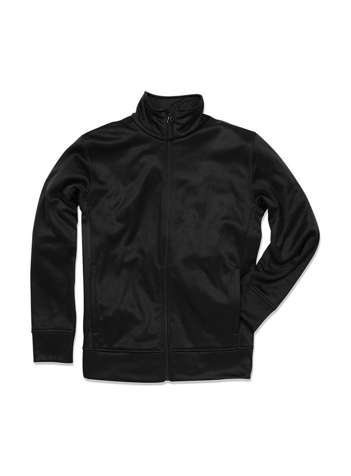 Pánská mikina Active fleece - Opálově černá S
