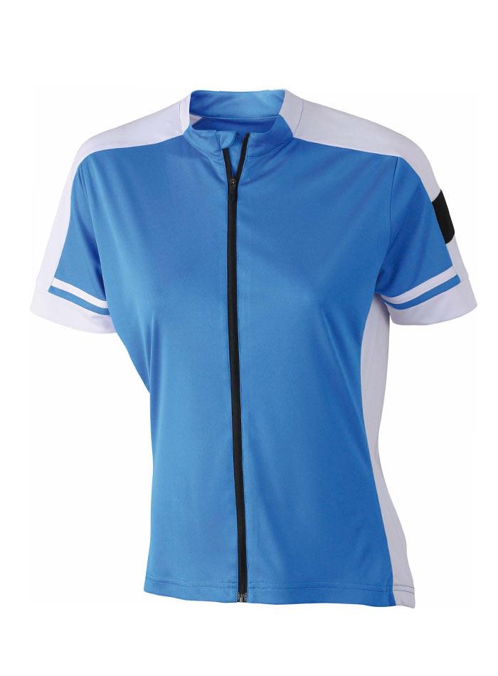 Dámské cyklistické tričko na zip - Kobaltově modrá S