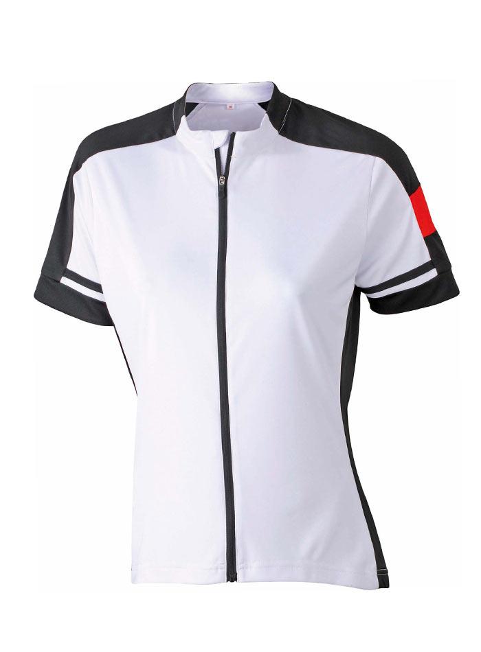 Dámské cyklistické tričko na zip - Bílá S