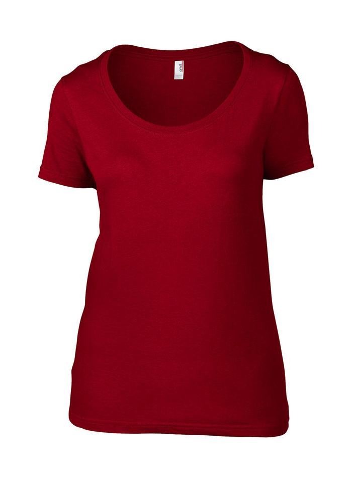 Dámské tričko Anvil - Červená S