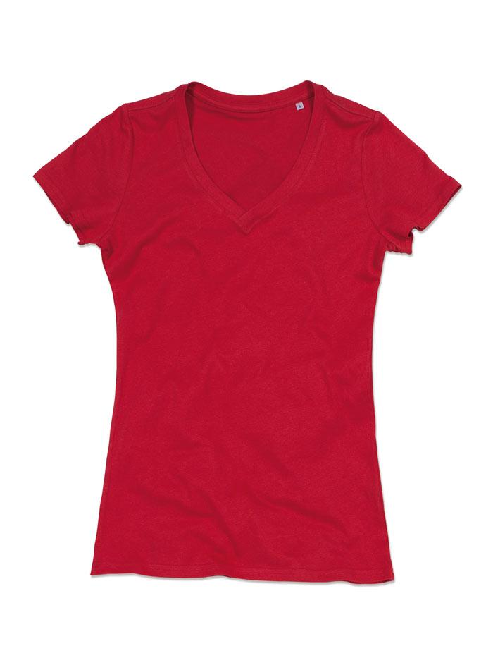Dámské tričko Janet - Červená S