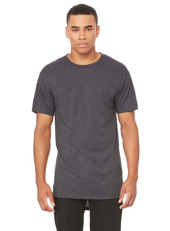 Pánské dlouhé tričko Urban - Tmavě šedohnědá XXL