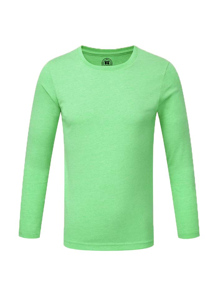 Chlapecké triko s dlouhými rukávy - Zelená 140 (9-10)