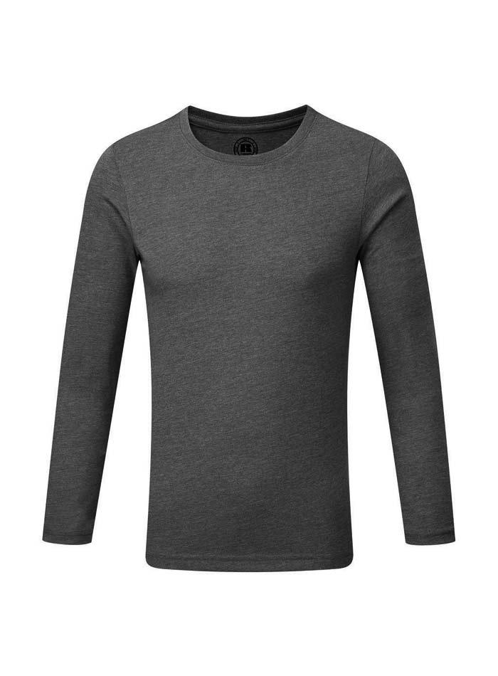 Chlapecké triko s dlouhými rukávy - Šedá 140 (9-10)