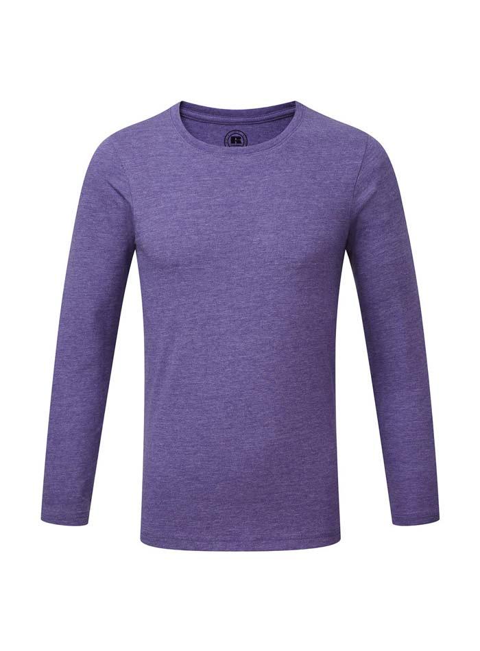 Chlapecké triko s dlouhými rukávy - fialová 140 (9-10)
